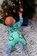 Комплект детский теплый: боди и штанишки