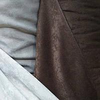 Штора двусторонняя софт коричневый