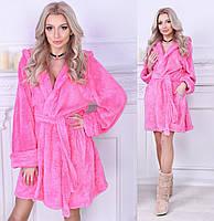 Тёплый мягкий женский махровый халат. 5 цветов. Р-р: SML.