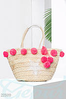 Пляжная сумка помпоны Gepur 20599