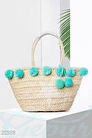 Пляжная сумка помпоны Gepur 20598