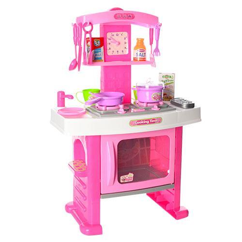 Детская игровая кухня для детей розовая