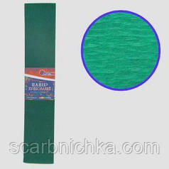 "Бумага гофрированная темно-зеленый 35% 20г\м2 50см*2м KR35-8040 ""JO"""