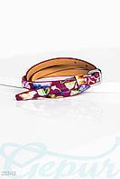 Лаковый цветочный ремень Gepur 20343