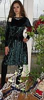 Платье  велюр муар короткое