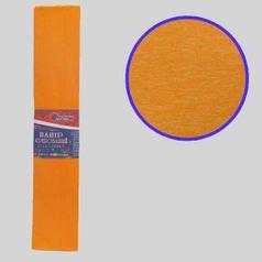 "Бумага гофрированная светло-оранжевый 55% 20г\м2 50см*2м KR55-8018 ""JO"""