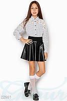 Контрастная детская блузка Gepur 22661