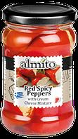 """Красный острый перец  """"Алмито"""" (""""Almito"""") с начинкой из сырного крема и феты, 320 мл"""