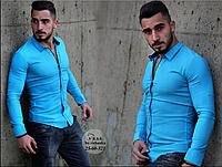 Рубашка мужская RSK 25-60-521,р. M, L, XL, XXL  Турция
