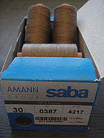 Нитки Amann Saba С №30 ( Германия).300 м. цвет 0387