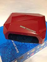 Уф лампа для ногтей CCFL+LED 36W сенсорная Lilly Beaute DIamond (темно -красная)