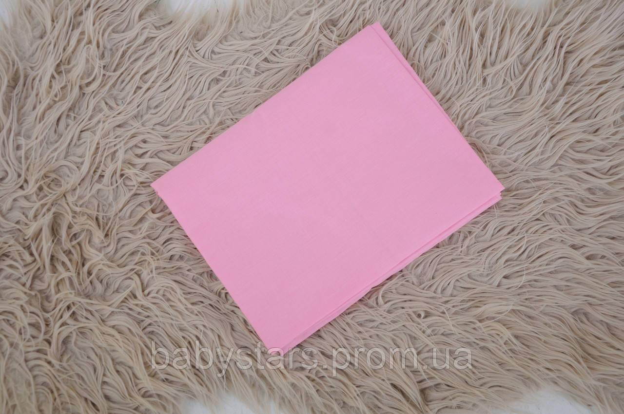 Простынь на резинке, розовая