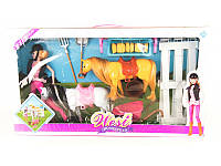 "Кукла типа ""Барби"" с 2-мя лошадками"