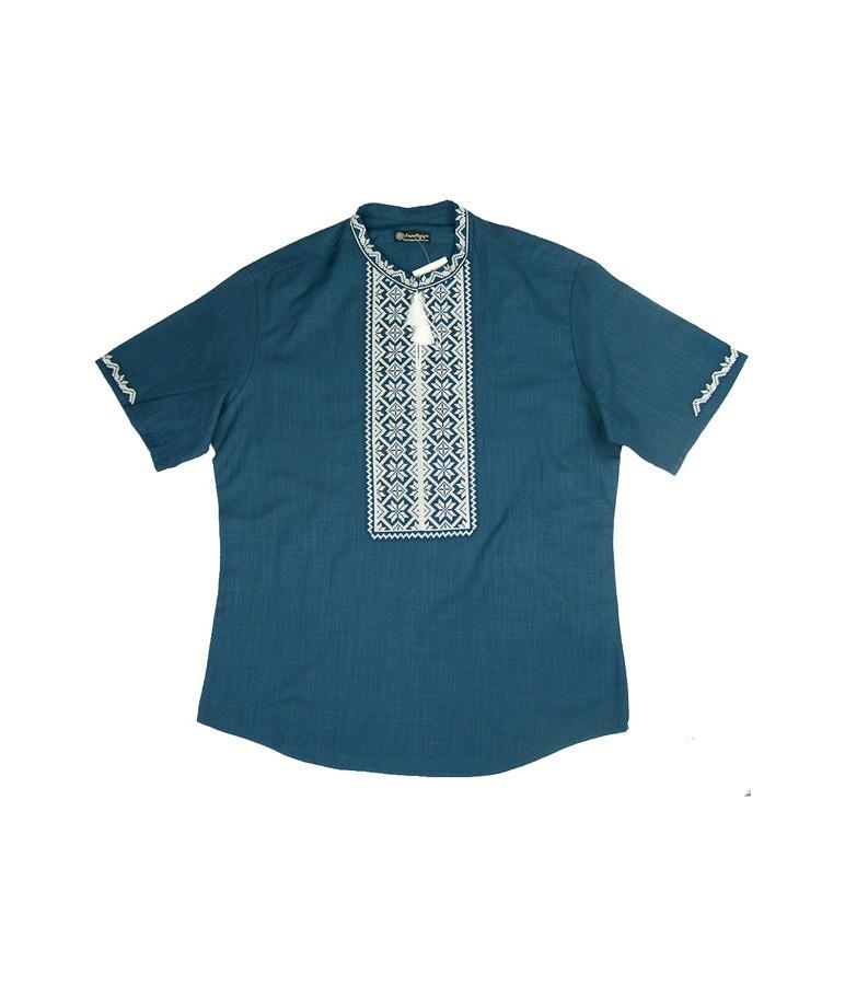 Вышиванка мужская синяя ec2c7e7ba8ccd