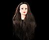 Учебная голова 30% натуральных волос, длина 65-70 см, коричневая