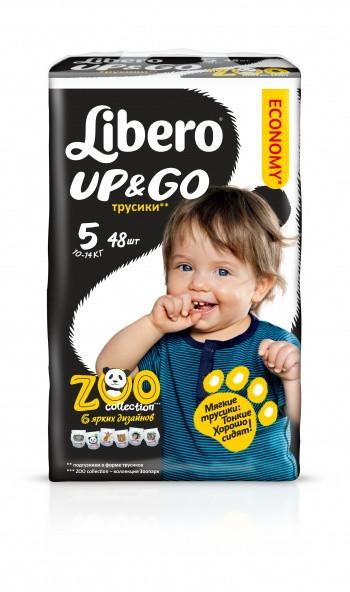 Трусики Libero Up&Go Maxi Plus 5 (10-14 кг) 42шт.