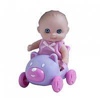 Пупс-малыш с машинкой JC Toys, 13 см, фото 1