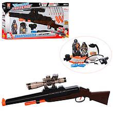 Ружье H9910 с очками, водяными пулями и мягкими пулями-присосками, светоэффекты
