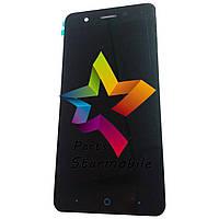 Дисплей для мобильного телефона ZTE Blade A510, черный, с тачскрином