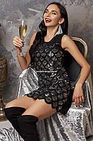 Платье New Year's Eve Женское вечернее  с пайетками Праздничное Новогоднее черное модное