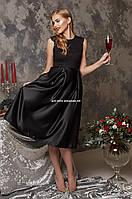 Платье Gulf Stream Женское вечернее Праздничное Новогоднее черное модное