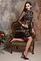 Платье Nadia Женское вечернее Праздничное Новогоднее Гипюровое черное модное