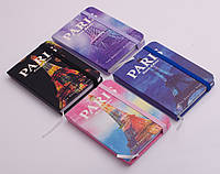 "Блокнот на резинке ""Париж"", 80 листов, 7.5х10.5 см, в ассортименте"