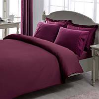 Постельное белье Tac Premium Basic Stripe фиолетовое евро
