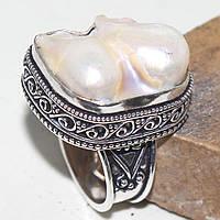 Стильный эффектный перстень с бива-жемчугом