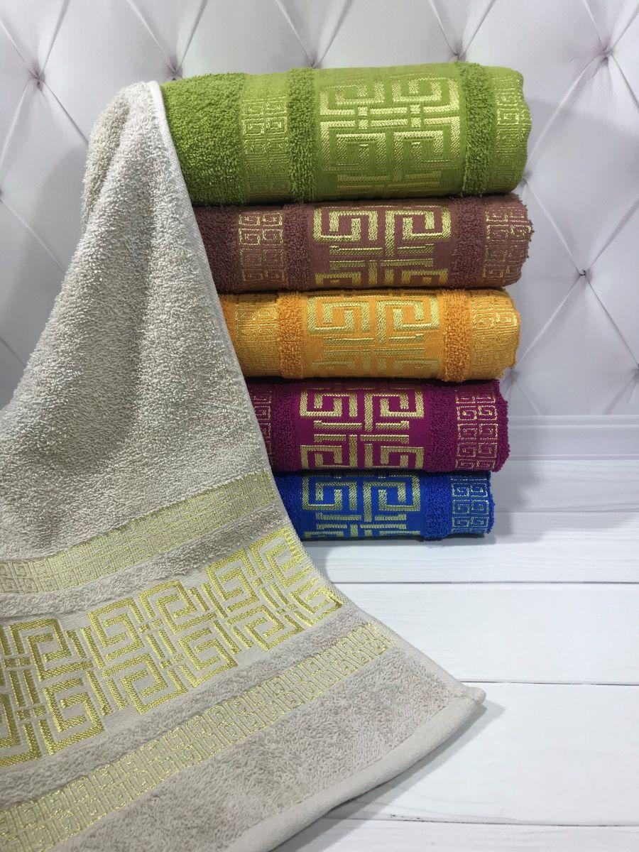 Лицевые махровые полотенца 50х90 (6-шт) Sweet Dreams № 61360-1