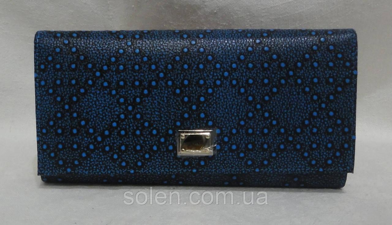 Женский классический кошелёк. Большой кожаный кошелёк.