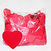 Конфетти сердечки, красные, 50 грамм