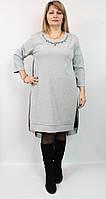 Женское платье серебристое Luizza (Турция)  54 - 64 рр