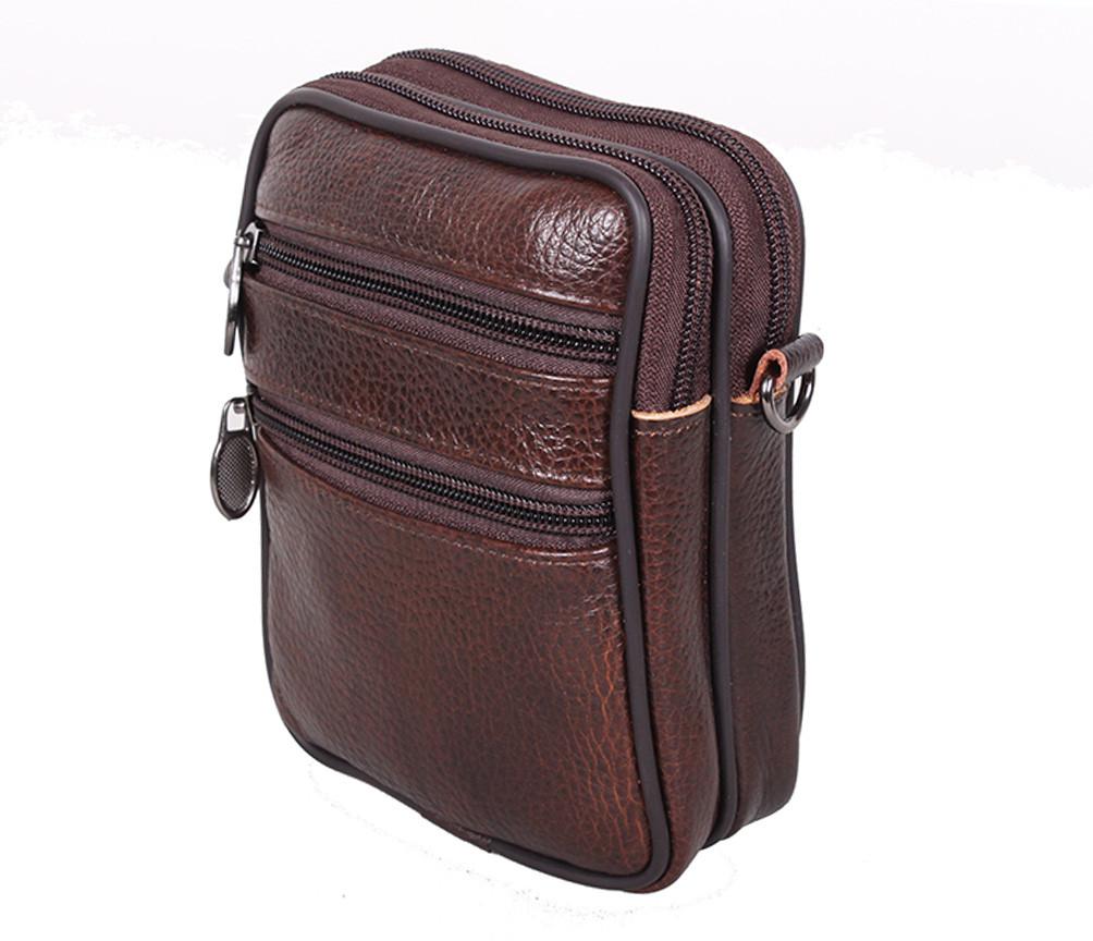 fd30abdcbdbe Компактная мужская кожаная сумка на пояс и через плечо RT-9950-1BR, цена  391 грн., купить в Киеве — Prom.ua (ID#629775512)