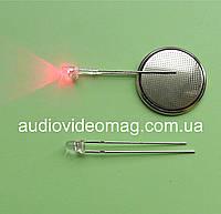 Светодиод 3V 3 мм мигающий, цвет красный