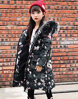 Супер модное зимнее пальто на девочку подростка натуральный пуховик