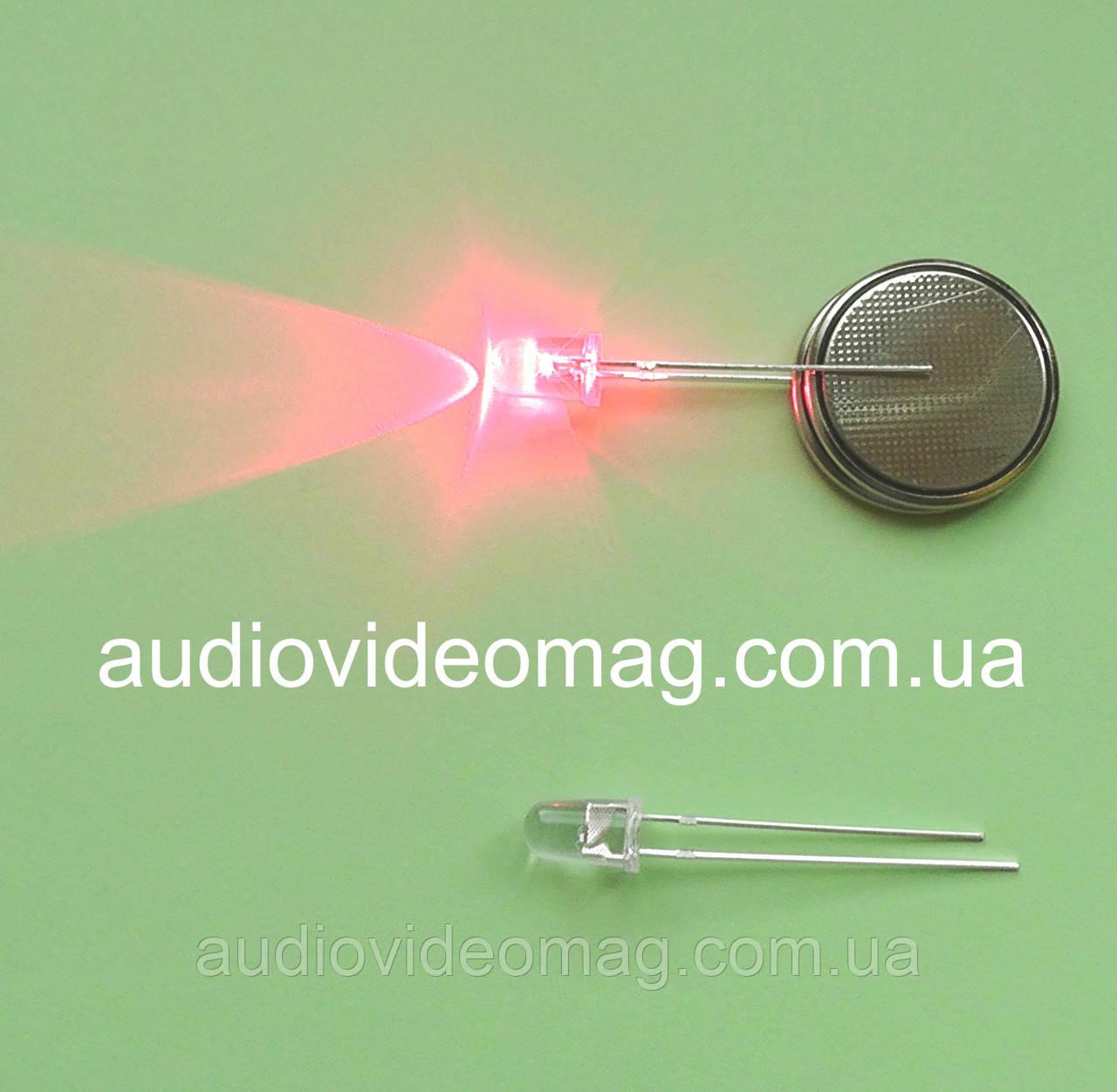 Светодиод 3V 5 мм мигающий, цвет красный