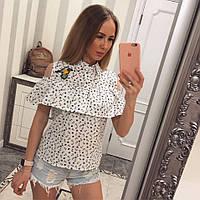 Блуза Якорьки с вышивкой