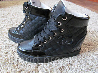 Женские ботинки-сникерсы  эко кожа
