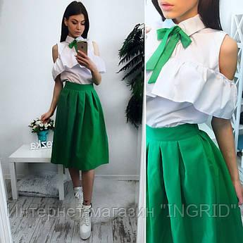 Костюм блуза+юбка миди 817