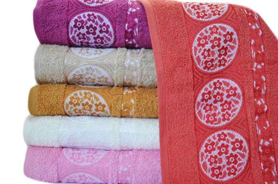 Лицевые махровые полотенца 50х90 (6-шт) Sweet Dreams № 61372