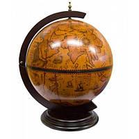 Мини бар Глобус деревянный