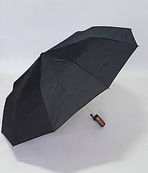 Мужской зонт чёрный цвет полуавтомат