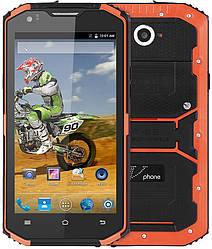 """NO.1 Vphone X3 orange IP68 2/16 Gb, 5.5"""", MT6735, 3G, 4G"""