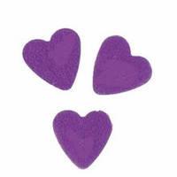 Конфетти сердечки, фиолетовые, 100 грамм