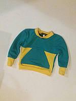 Джемпер унісекс з двонитки з кишенею бірюза та інші кольори Детская кофта