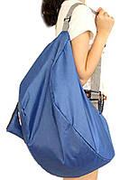Рюкзак, Сумка городская, дорожная, спортивная, складная. Синяя