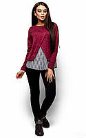 Женский свитер ангора, марсала, р.46-48