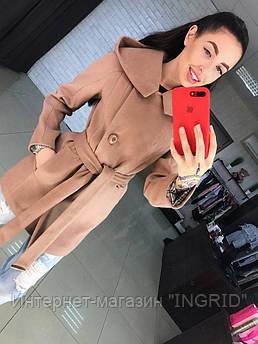 Пальто Аделина коричневое