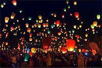 Акция! Небесный фонарик Купол 80см (летающий горящий шар,светящийся шарик, Китайский воздушный бумажный)